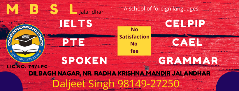 Recent IELTS questions from Ludhiana